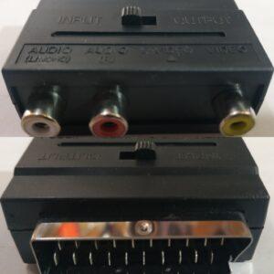 Переходник SCART — 3 RCA тюльпана